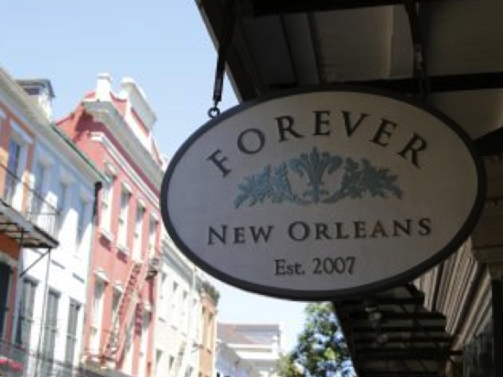 Forever New Orleans shop sign fun in new orleans