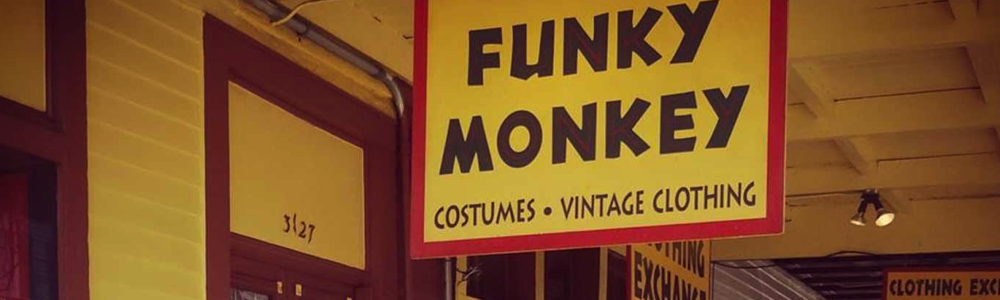 Funky Monkey fun in new orleans costumes clothing shops