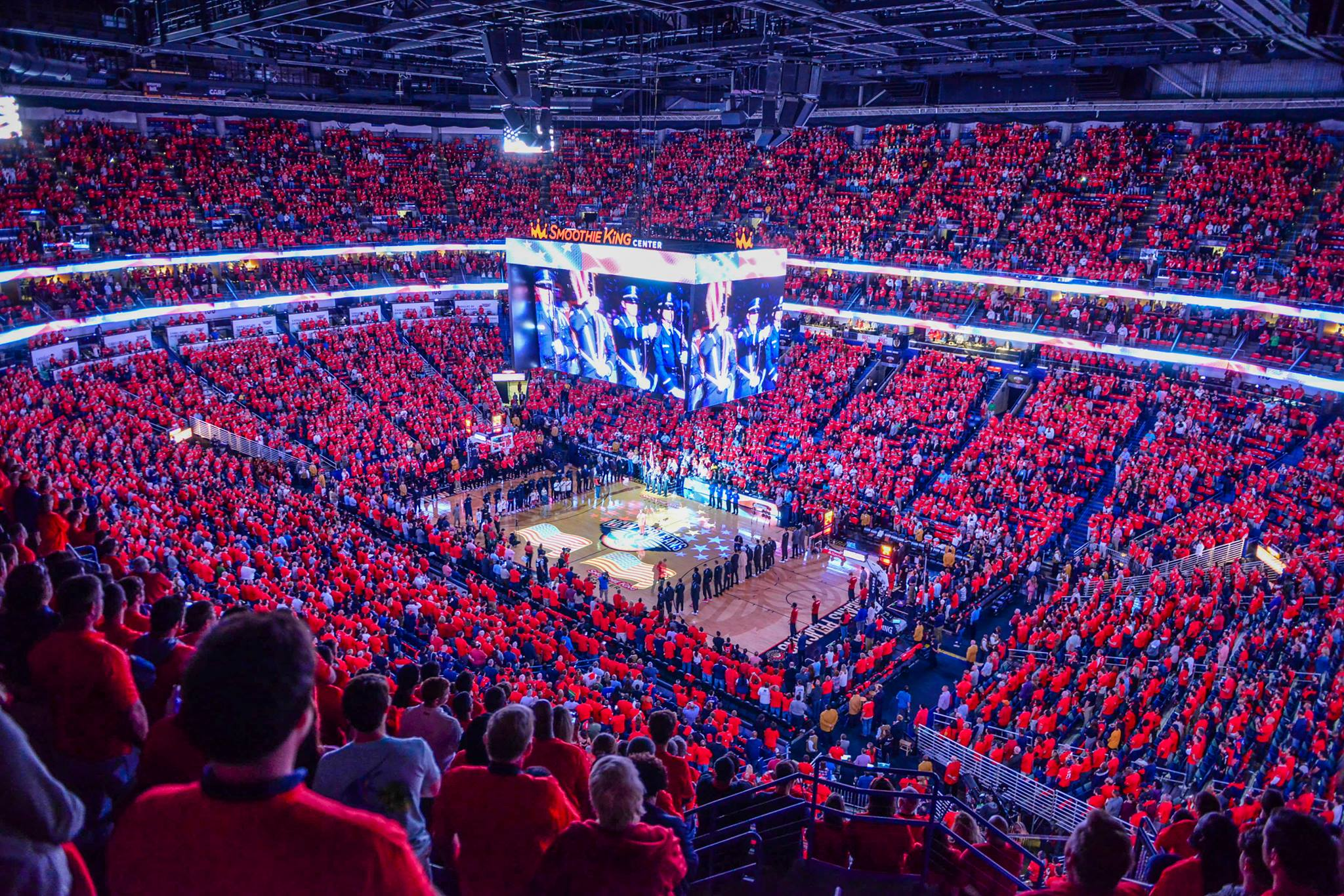 smoothie king center basketball game fun in new orleans