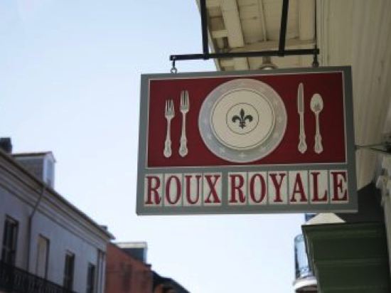 Roux Royale shop street store sign fun in new orleans